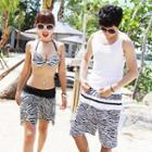 Zebra-print Beach Shorts