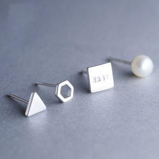 Set Of 4: S925 Sterling Silver Rings