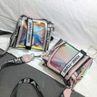 Iridescent Transparent Lettering Shoulder Bag