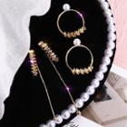 Alloy Dangle Earring / Hoop Earring