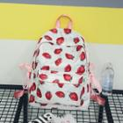 Strawberry Canvas Backpack