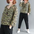 Long-sleeve Print T-shirt Curcumin - One Size
