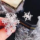 Rhinestone Rotatable Snowflake Ring