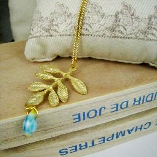 Gold Forest Leave Necklace Gold - One Size