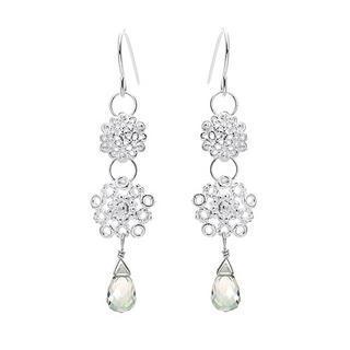 Silver, Mystic Topaz Earrings