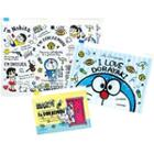 Set Of 3: Im Doraemon Clear Document Pouch (standard) One Size