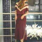 Chevron Short-sleeve Dress