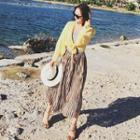 Striped Chiffon Skirt