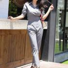 Set: Houndstooth Blouse + Pants