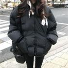Drawstring Hooded Padded Jacket
