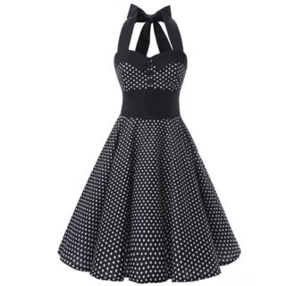 Sleeveless Dotted Cocktail Dress