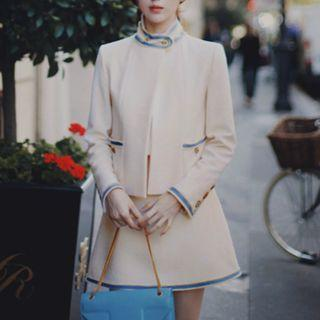 Buttoned Coat / A-line Skirt