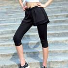 Capri Leggings Inset Sport Shorts