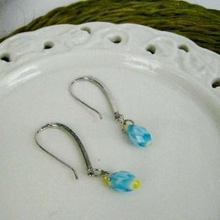 Silver Fresh Earrings (blue) Silver - One Size