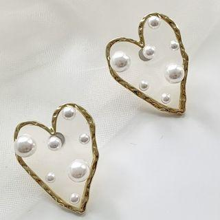 Beaded Sweetheart Earrings Studded Earring - One Size