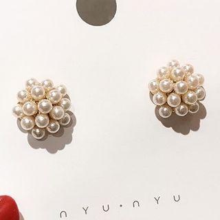 Faux Pearl Earring Pearl Earrings - One Size