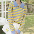 Striped Knit Top Blue & Yellow - One Size
