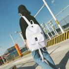 Belted Plain Canvas Backpack