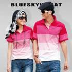 Couple Color-block Polo Shirt