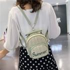 Lettering Straw Backpack