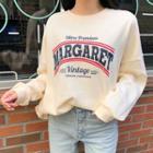 Margaret Printed Fleece-lined Oversized Sweatshirt