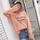 Long Sleeve Printed Knit Top