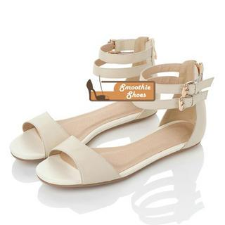 Genuine Leather Ankle-strap Sandals