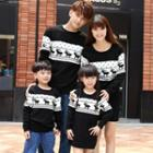 Family Matching Long-sleeve Patterned Knit Top / Long-sleeve Patterned Knit Dress