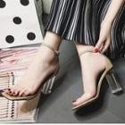 Transparent Strap High Heel Sandals