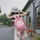 Printed Backpack With Coin Purse