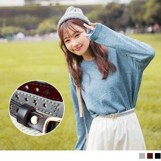 Cutout Star Faux Leather Belt
