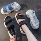Ankle-strap Platform Flat Sandals