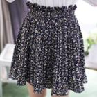 Inset Shorts Floral Pleated Skirt