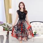 Two-tone Chiffon Dress