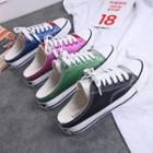 Color Block Backless Sneakers