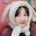 Couple Matching Rabbit Ear Hooded Scarf