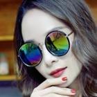 Mirrored Lens Round Sunglasses