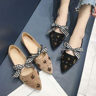 Pointy Toe Studded Flats
