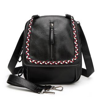 Contrast-stitching Backpack