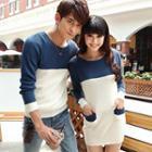 Couple Color Block Knit Top / Knit Dress