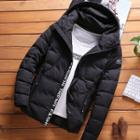 Letter Hooded Padded Jacket