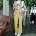 Wide-leg Dress Pants Yellow - One Size