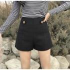 High Waist Buttoned Shorts
