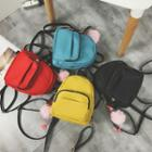 Lightweight Backpack With Flamingo Charm