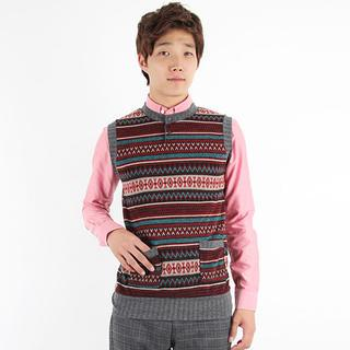 Patterned Knit Vest