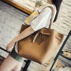 Bucket Shoulder Bag With Pouch