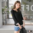 Contrast Layered Cotton Tee
