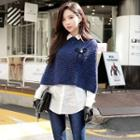 3/4-sleeve Cropped Knit Top