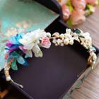 Set: Flower Rhinestone Headband + Earrings
