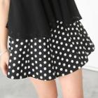 Inset Shorts Polka Dot A-line Skirt